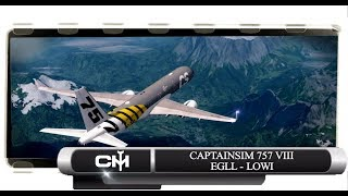 [P3D V4.1] CaptainSim 757 VIII | Full Flight Tutorial | EGLL to LOWI