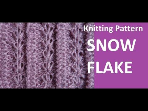 Knitting Pattern Snowflake Youtube
