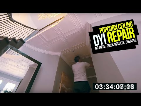 how-to-fix-/-replace-popcorn-ceilings.-no-mess,-no-scraping,-fast-results-diy-popcorn-repair