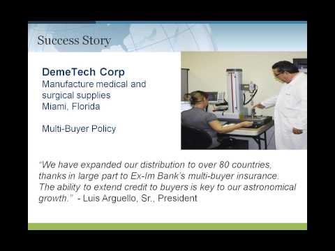 EXIM Bank Webinar: Extend Credit and Get Paid for Your Exports