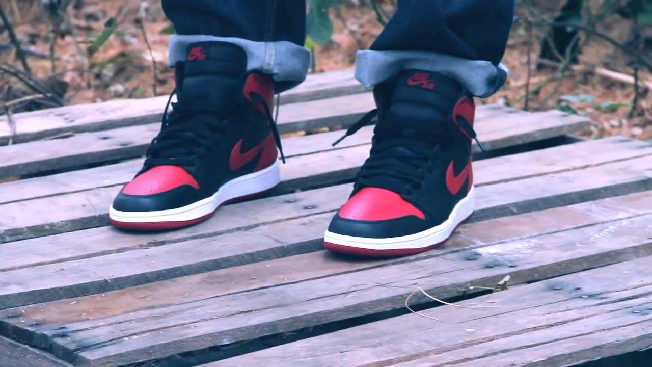 2013 Air Jordan 1 Élevé Sur Les Pieds