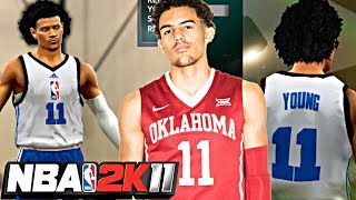 NBA 2K11 MyPLAYER TRAE YOUNG #1 - CREATING 3PT SPECIALIST TRAE YOUNG! UPGRADE SHOOTING AND DRIBBLING