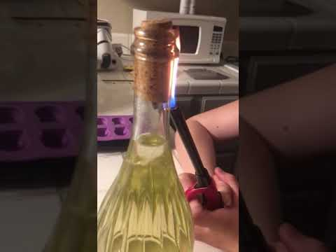 James Burlander - Wine Trick: How To Open A Bottle Of Wine With A Lighter