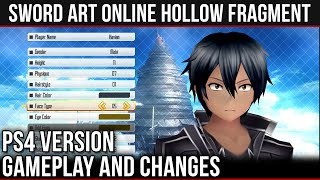 CHARACTER CREATION & VERSION DIFFERENCES | Part 1 -【 Sword Art Online Re: Hollow Fragment 】