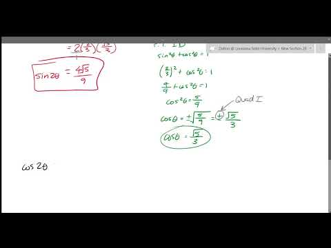 7 4 Part 1  Double Angle Identities