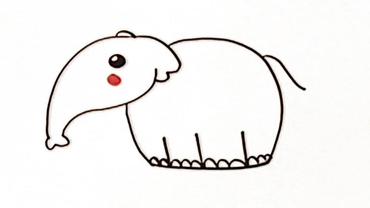 Cómo Dibujar Un Elefante Manualidades Para Niños Youtube