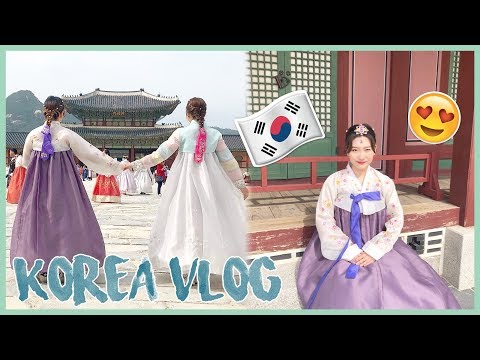 GOING TO KOREA 🇰🇷 VLOG Gyeongbokgung Hanbok Tour, Trying Black Bean Fire Noodles