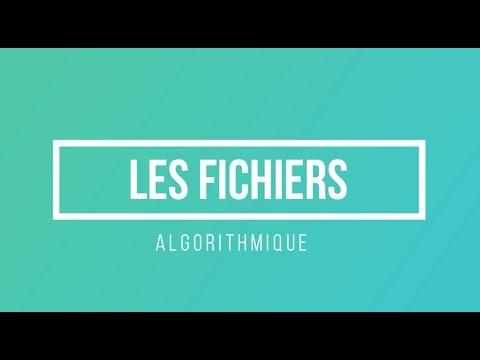 Algorithmique (ASD) : Les Fichiers, Définition Et Déclarations - Partie 1 (Darija)