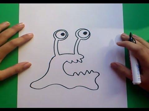 como dibujar un monstruo paso a paso 2 how to draw a monster 2
