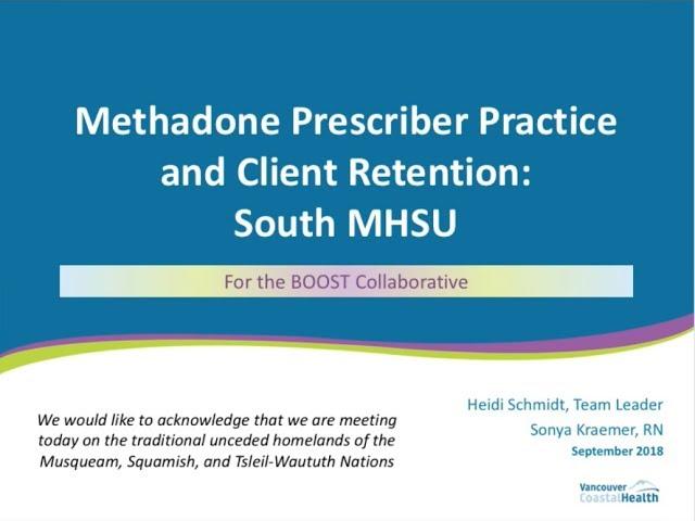 Methadone Prescriber Practice and Client Retention