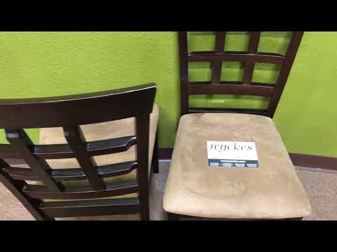 100772 Waffle Back Dark Brown With Light Brown Padded Seating Dining Chair