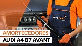 Como substituir a amortecedores dianteiros noAUDI A4 B7 AVANT [TUTORIAL]