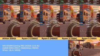 Ryzen APU Round Up! Athlon 200GE vs. Ryzen 3 2200G vs. Ryzen 5 2400G vs. 2200GE vs. 2400GE