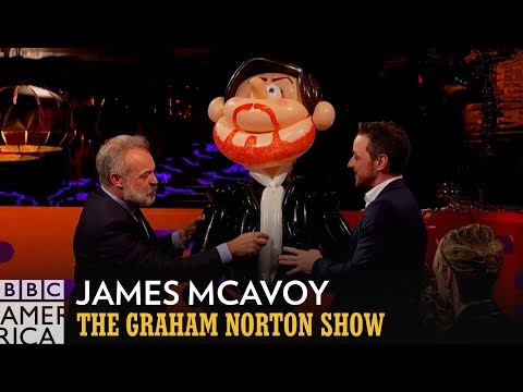These James McAvoy Models are Truly Terrifying  The Graham Norton Show  BBC America