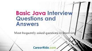 Basic Java Questions For Nagarro
