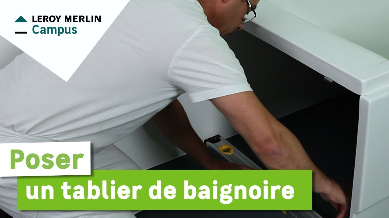 Comment poser un tablier de baignoire leroy merlin youtube - Habillage porte interieur leroy merlin ...