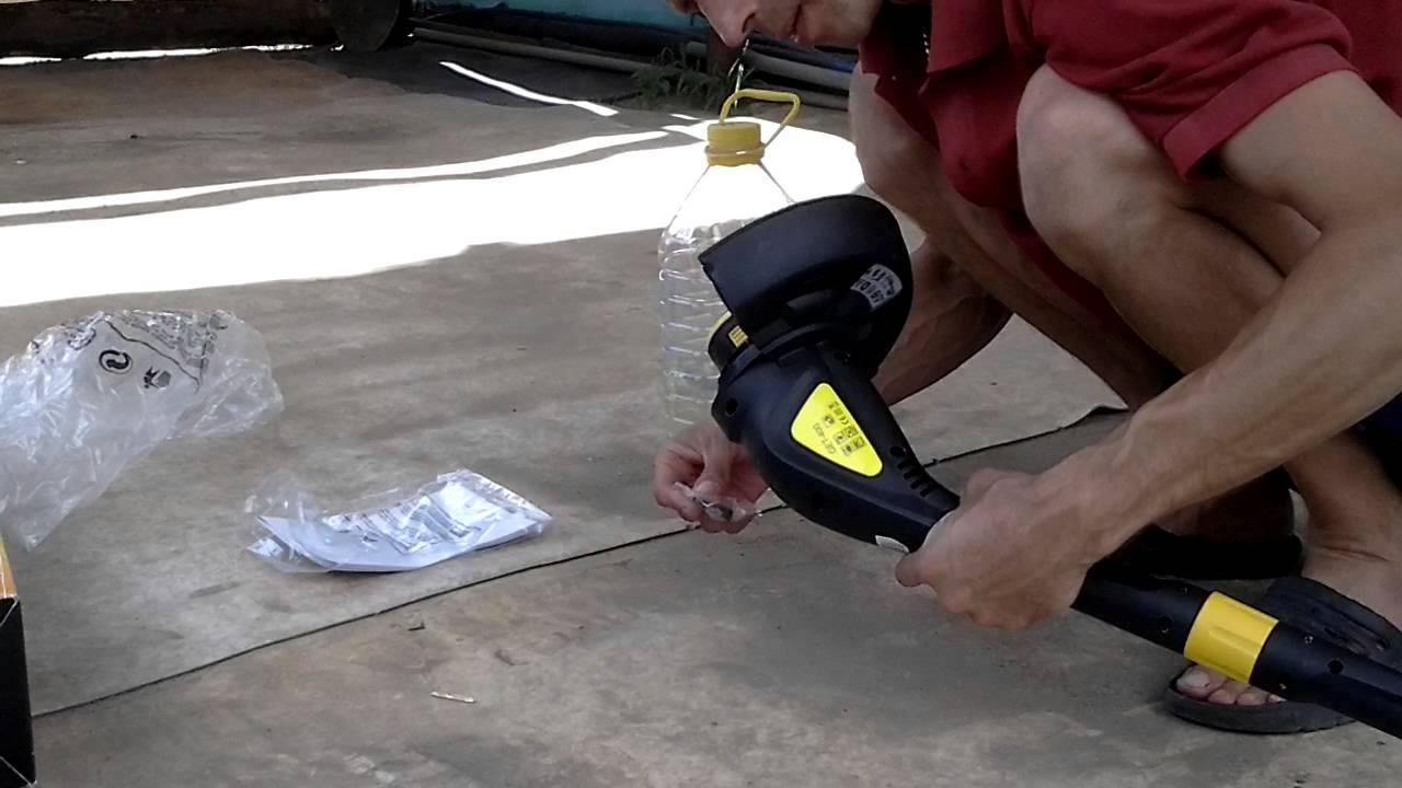 Бензиновая мотокоса Daewoo DABC 420 (видеообзор)   Gasoline Brush .