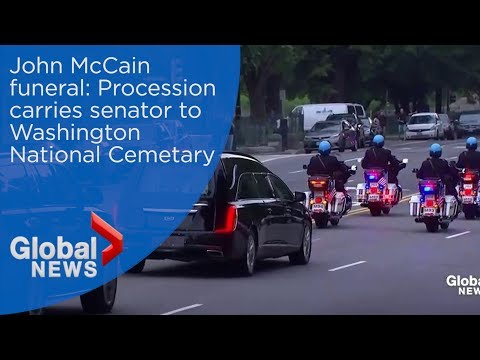 John McCain funeral: Funeral procession for senator in Washington, D.C.