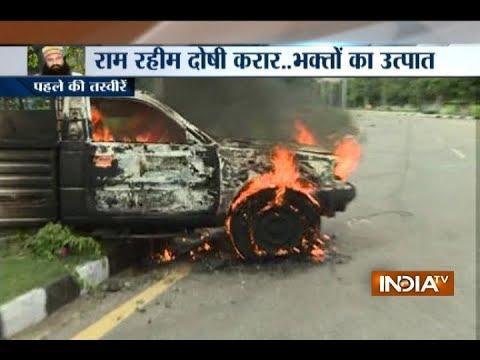 Violence, damage to public property after court verdict on Baba Gurmeet Ram Rahim