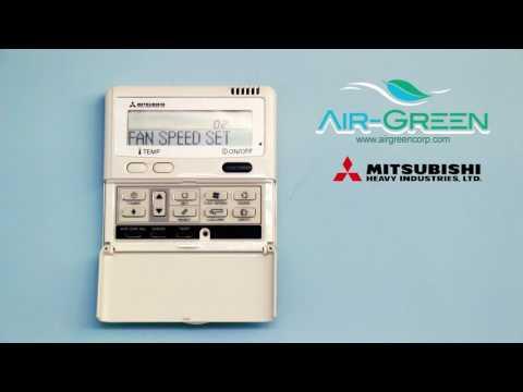 Air Green MHI - RC E5 - Funciones Control Remoto Unidad Interior