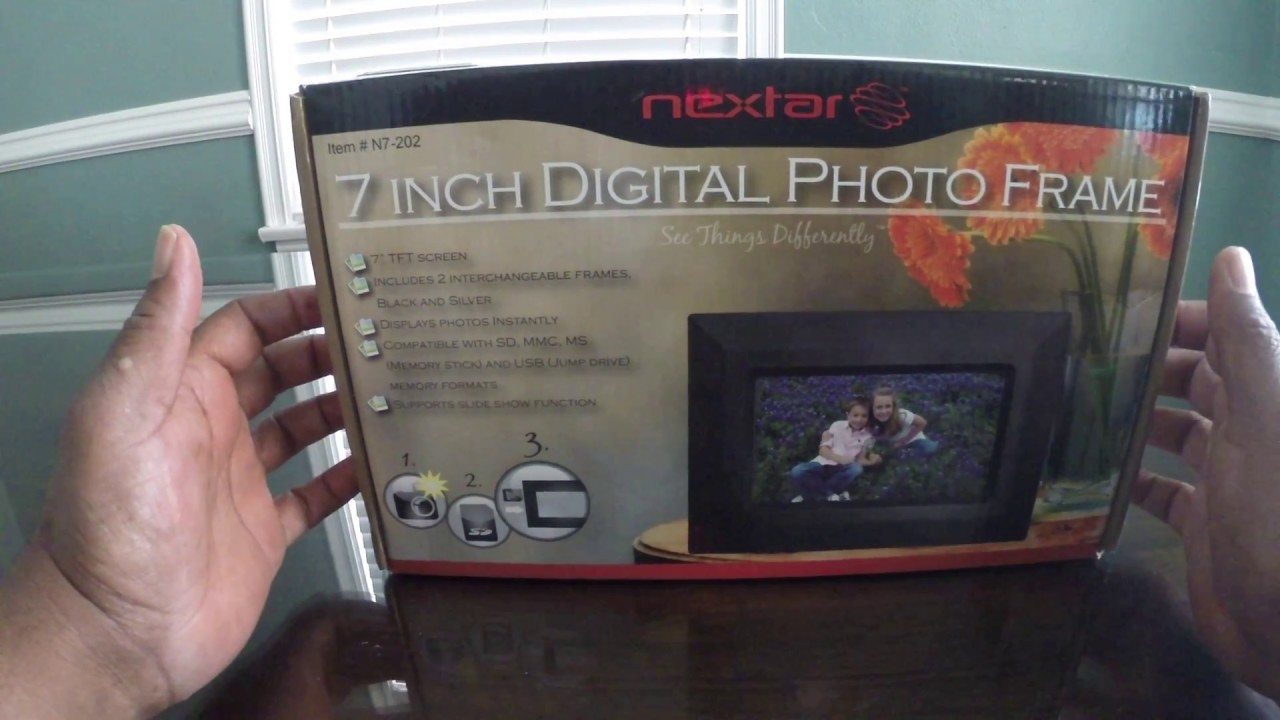 Review Nextar 7 Inch Digital Photo Frame Youtube
