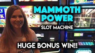 GIGANTIC WIN! Mammoth Power Slot Machine! What a Great BONUS!