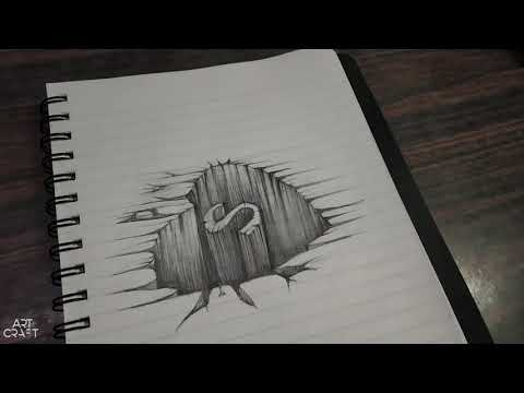 Easy Drawing S In Cracked Heart Effect, Trick Art