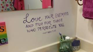 Happy Bathroom - Scriptures On The Wall