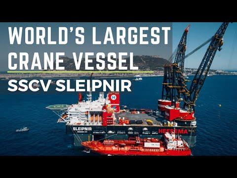 Biggest Crane Ship in The World. #biggestcrane #craneship #sleipnir