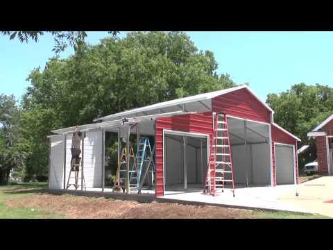 Stallion Carports Texas On-site Barn Metal Carports