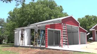 Leland's Texas On-site Barn Metal Carports