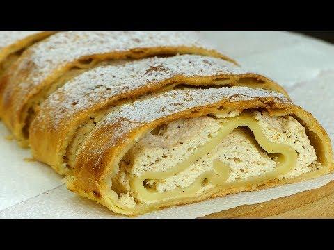 un-des-desserts-grecs-les-plus-simples---roulé-au-fromage-frais-de-vache!-ǀ-savoureux.tv