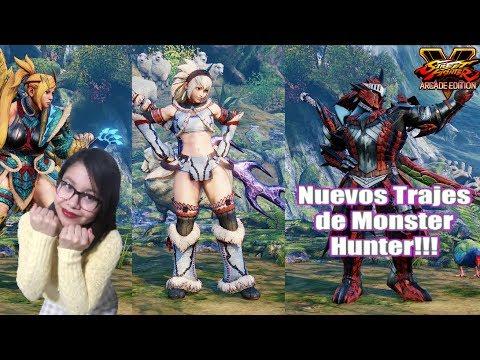 Nuevos trajes de Monster Hunter para Street Fighter V Arcade Edition!!