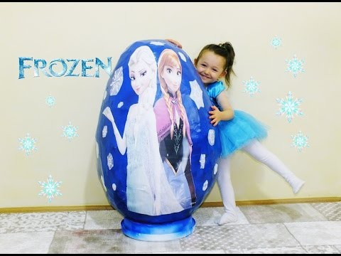 Süper Dev Frozen Sürpriz Yumurta Elsa Anna Kristoff Olaf Sven - Super Giant Surprise Egg Frozen