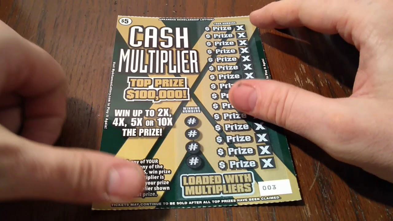 2X $5 CASH MULTIPLIER ARKANSAS SCRATCH OFF LOTTERY TICKETS