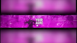 [FREE] FORTNITE PURPLE GOUL TROOPER YOUTUBE BANNER PSD *DOWNLOAD* FREE PSD