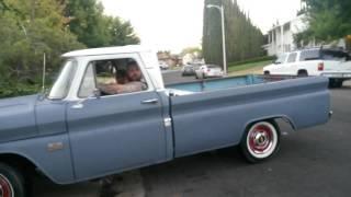 1966 Chevy c10 long bed big window.