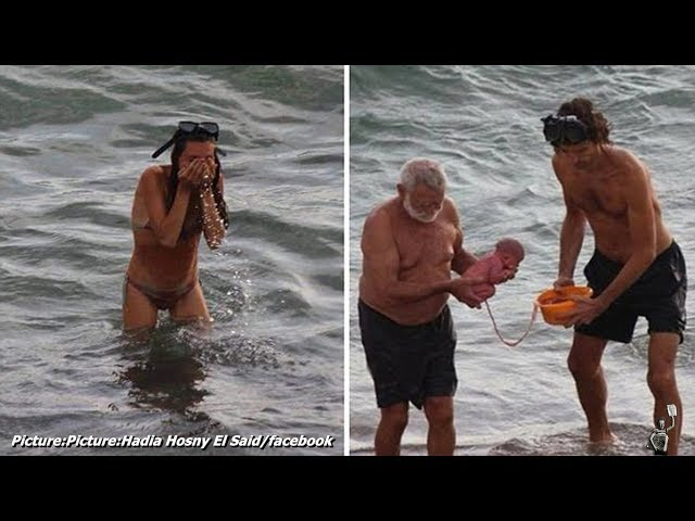 As emocionantes imaxes dun parto no Mar Vermello