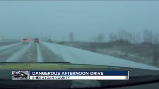 28 car accidents in Sheboygan Co. after winter storm blankets roads