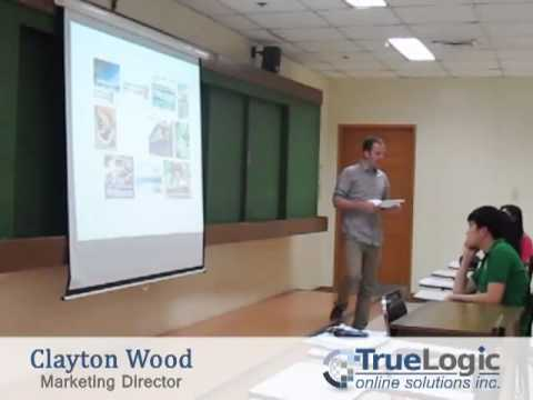Marketing Director Clayton Wood speaks at De La Salle University - Manila