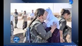 صورة هزت العالم مقاتل داعش يفصل رأس فتاة عين العرب بريفان عن جسدها