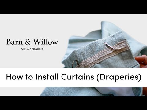 How to Install Curtains (Draperies)