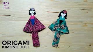 Origami Kimono Doll Tutorial  (Bookmark)