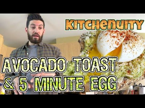 5 Minute Egg + Avocado Toast | Kitchenuity