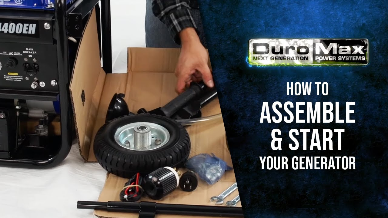 How To Assemble Start A Duromax Generator Run On Gas Or Propane Strat With Push Pull Switch Wiring Diagrams But Now