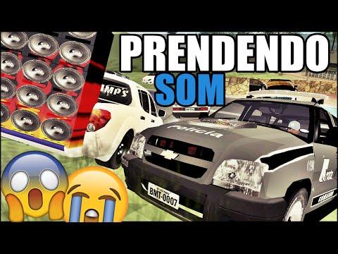 POLÍCIA PRENDEU O SOM DA MINHA SAVEIRO!! - GTA San Andreas MTA