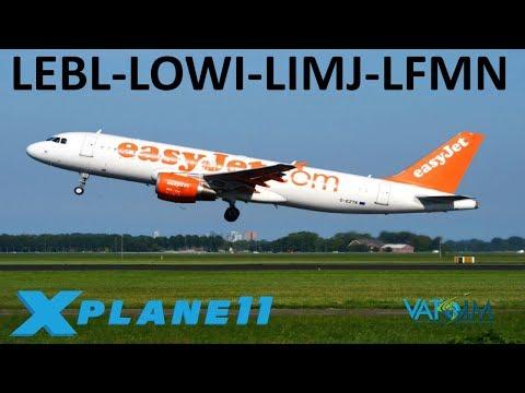 X-Plane 11 | Innsbruck Approach!! | B738 A320 Crj200 | VATSIM | Spain, Austria, Italy & France!
