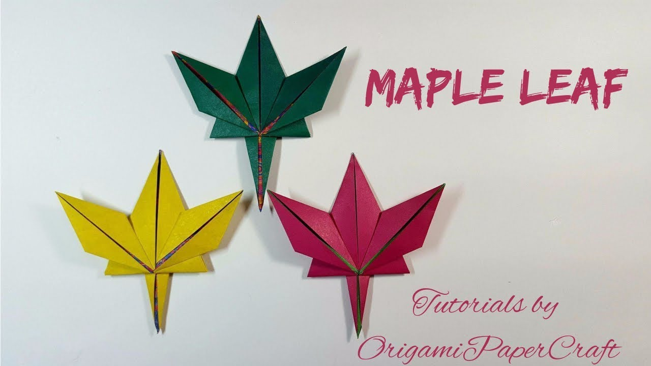 Origami Maple Leaf ( Lá Phong )🍁 Tutorials by ... - photo#11