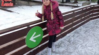 Катание на коньках в Парке Горького. Ice skating in Gorky Park