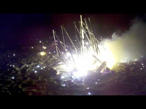 3 Magnesium VW Engine Blocks Burning / On Fire EXPLODE!!!!